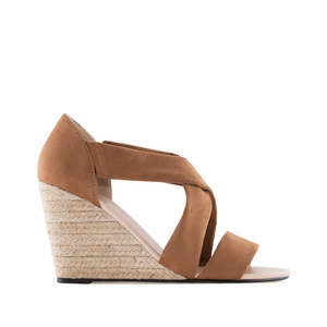 Brown Suede Wedges