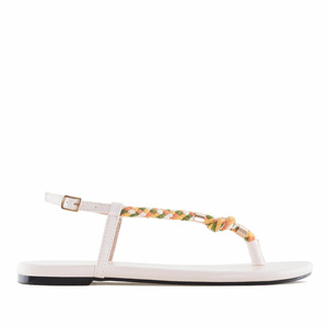 White Cord Flat Sandals