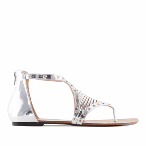 Sandales Romaines en Soft Argent