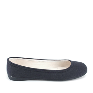 Navy Blue Canvas Ballerinas, with rubber sole