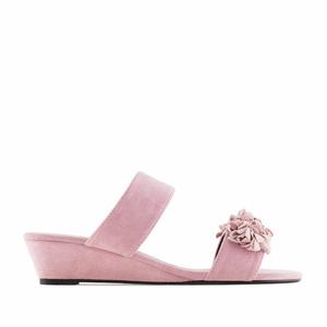 Otvorene sandale sa niskom platformom, roze
