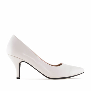 Off-White faux Leather Heeled Shoes