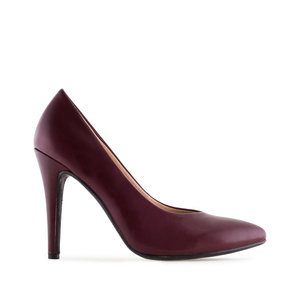 Klassische Pumps in Soft-Bordeaux