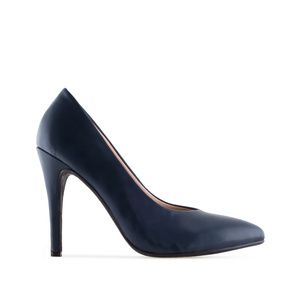 Klassische Pumps in Soft-Marineblau