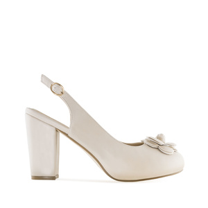 Slingback-Pump in Soft-Creme