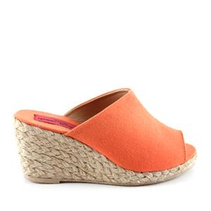 Papuče sa plutanom platformom, narandžaste