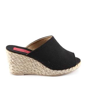 Papuče sa plutanom platformom, crne