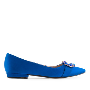 Gemstone Flats in Deep Blue Satin