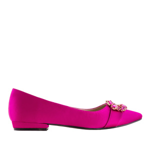 Gemstone Flats in Fuchsia Satin