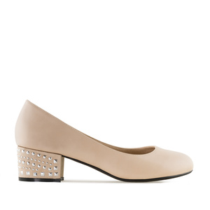 Escarpins Soft Beige à clous