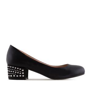 Loafer in Soft-Schwarz mit Strass