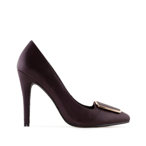 High-Heels in Soft-Bordeaux mit Applikation