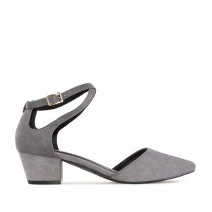 Zapato Punta Ante Gris
