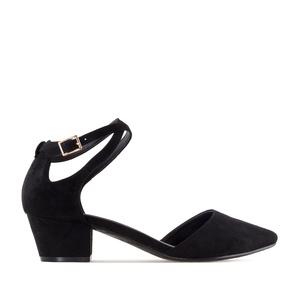 Zapato Punta Ante Negro