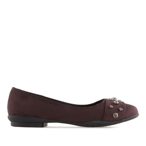 Gemstone Flats in Burgundy Suede