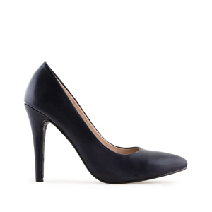 Schlichte High-Heels in Soft-Marineblau