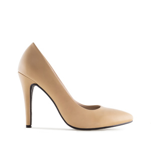 Schlichte High-Heels in Soft-Beige