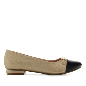 Loafer in Soft Gold mit Applikation