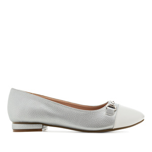 Loafer in Soft Grau mit Applikation