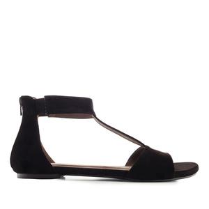 Ravne antilop sandale, crne