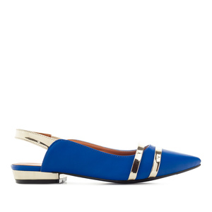 Loafer in Soft Blau mit offener Hacke