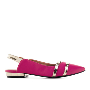 Loafer in Soft Pink mit offener Hacke