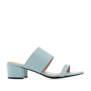 Sandals in Sky Blue faux Leather