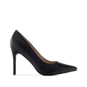 Stilettos in Black faux Leather