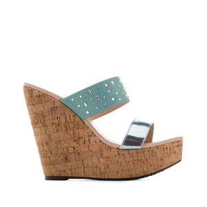 Platform Wedges in Shiny-Light Blue