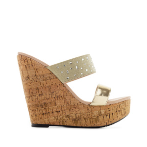 Platform Wedges in Shiny-Gold