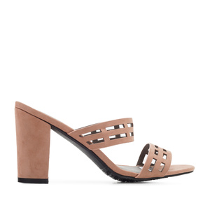 Sandals in Nude Suede