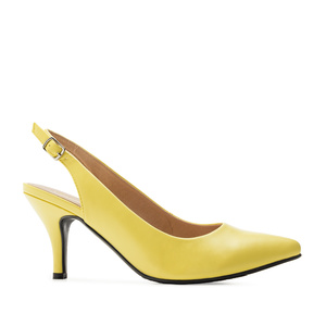 Slingback-Pumps in Soft Gelb