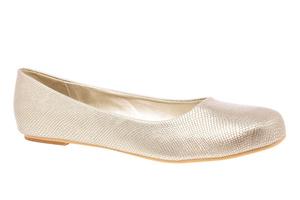 Klasične baletanke, zlatne sa šarom