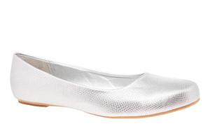 Klasične baletanke, srebrne sa šarom