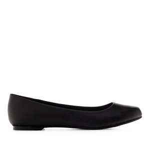 Classic Ballerinas in Black faux Soft-Leather
