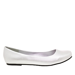 Classic Ballerinas in Silver faux Soft-Leather