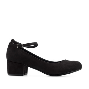 Ankle-Tie Shoes in Black Suede