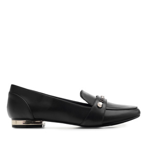 Tassel Loafer in Soft-Schwarz mit Nieten