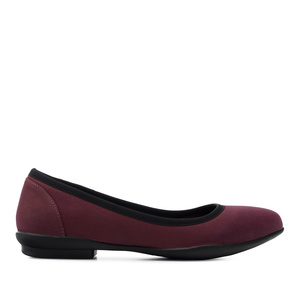 Ballerines Nubuck Bordeaux
