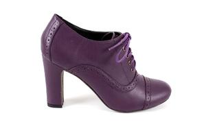 Kožne cipele u Oxford stilu, ljubičaste