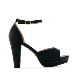 Elegantní sandále na vysokém podpatku. Černé.