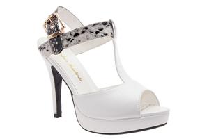 Sandale u Charleston stilu, bele
