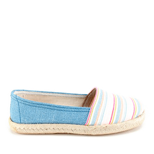 Beach shoes in Multi/Bright Canvas with stripes.