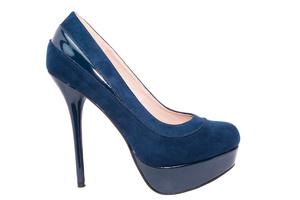 Cipele sa veoma visokom potpeticom i platformom, antilop plava