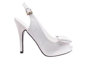Sandalias Peep-Toes en Raso Blanco