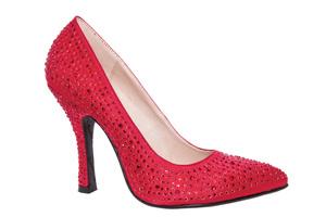 Buty Salonowe Satynowe Czerwone i Czubek