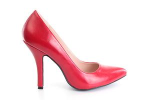 Zapatos Salon en Soft Rojo y punta Fina