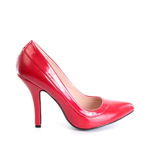 Zapatos Salon combinado Soft Rojo y Charol