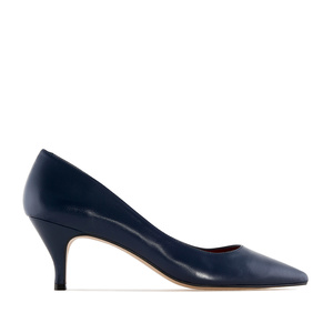 Pumps in Navy Nappa Leather