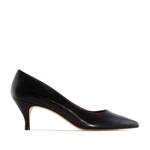 Pumps in Black Nappa Leather